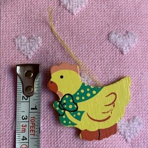"1.5"" wooden chick 🐥 bird Easter tree ornament"